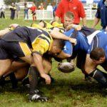 Două blonde la un meci de rugby